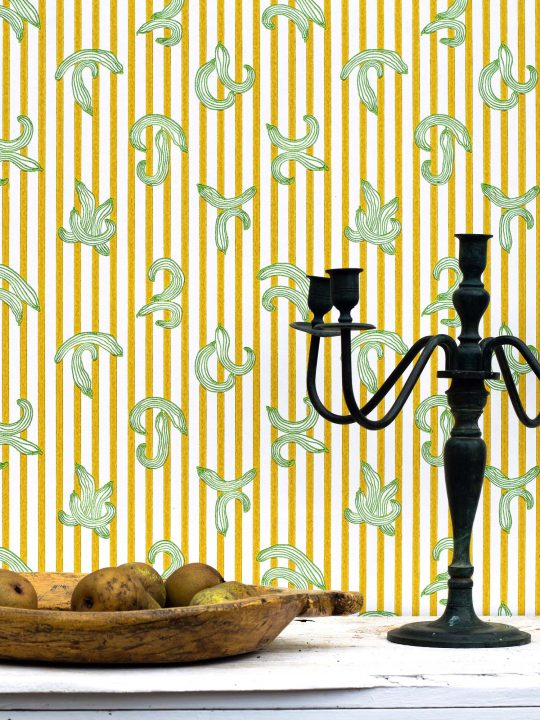 Kitchen Wallpaper - 282 ways of making a salad wallpaper designed by artist james ferris