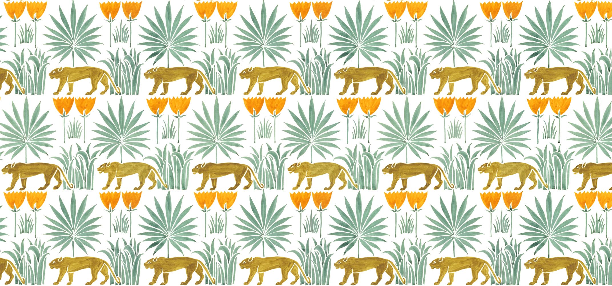 Lioness & Palms by Voysey from the V&A archive