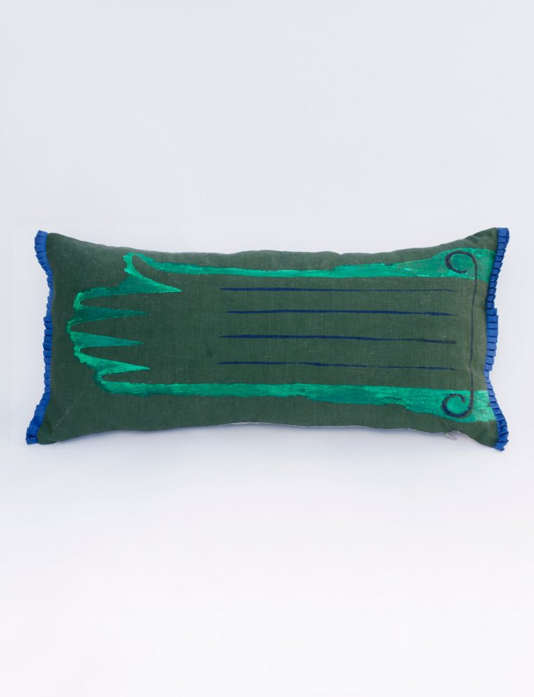 green brexit cushion