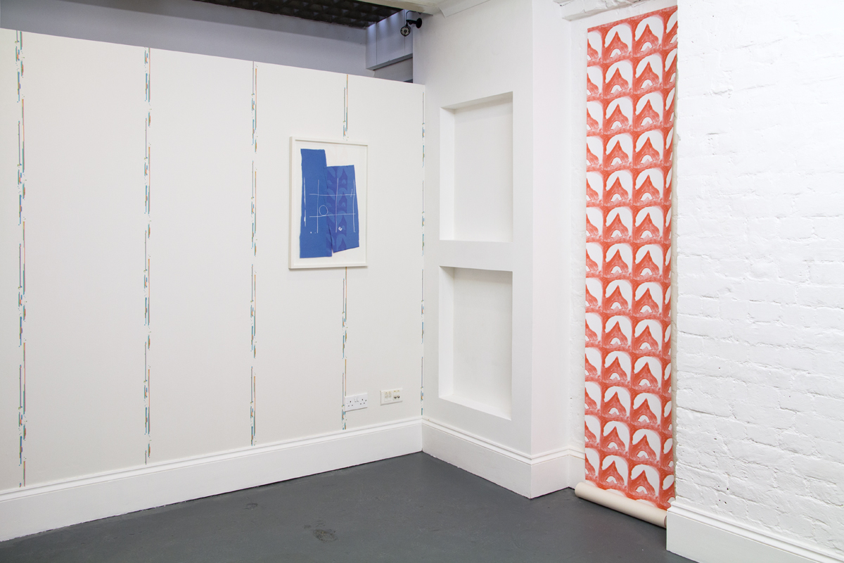 CommonRoom artist wallpapers in the Fancy Papers Exhibition at Tenderbooks