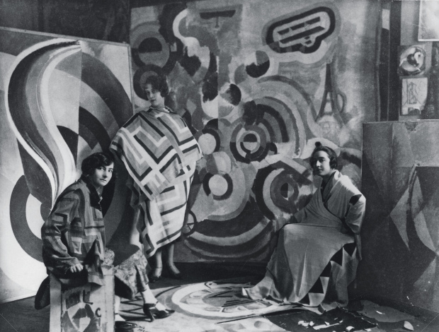 Sonia Delaunay and two Friends in artists studio