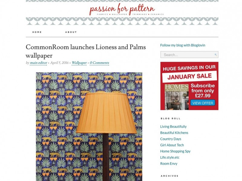 Passion for Pattern Blog – April 2016