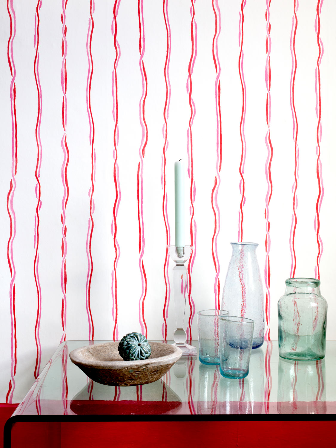 Ribbons Wallpaper by Susie Green