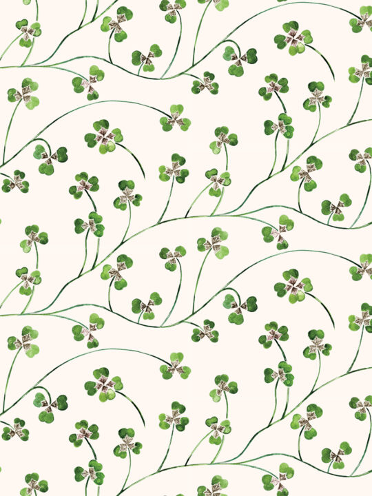 lucky leaf clover wallpaper